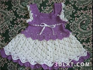 فساتين اطفال كروشيه بسيطه ملابس مواليد 136148670515.jpeg