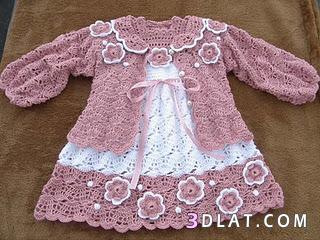 فساتين اطفال كروشيه بسيطه ملابس مواليد 136148670516.jpeg