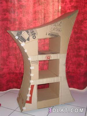 طريقة عمل كومودينو بالصور بالكرتون اعمال يدويه منزليه جميله شرح صنع كومود بالكر