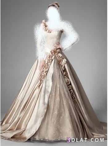 فساتين زفاف باللون البيج ، فساتين زفاف بعيدا عن الابيض ، فساتين زفاف مختلفة