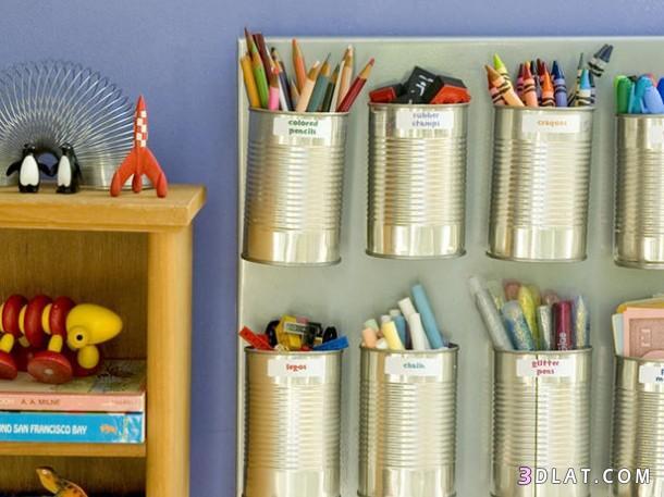 استخدامات جديدة لعلب السمن والتونة .فكرة للعلب الصفيح للتزيين فى المنازل