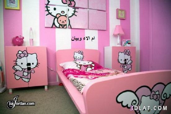 غرف نوم للبنات من Hello Kitty احلى غرف نوم لمحبات Hello Kitty صور