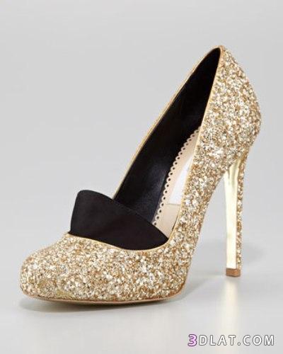 احذية باللون الذهبي للسهرات احذية
