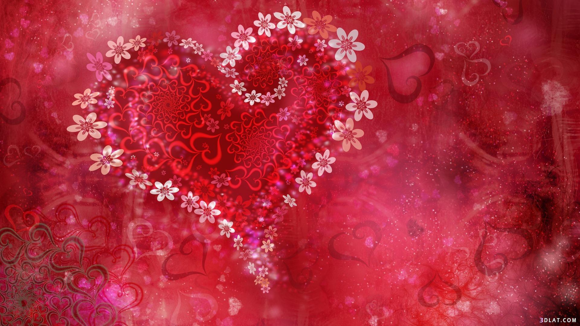 خلفيات, رومانسية, صور, قلوب, للتصاميم