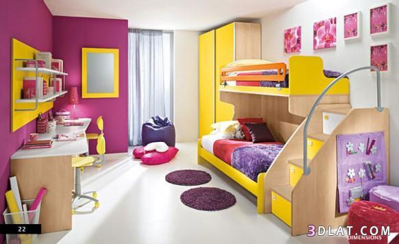 غرف نوم أطفال ديكورات لغرف نوم الاطفال   روزة