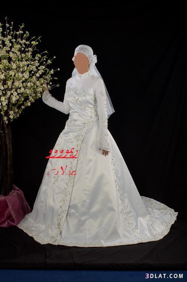 فساتين فرح محجبات2019,اجمل فساتين زفاف محجبه,فستان فرح العروس المحجبه