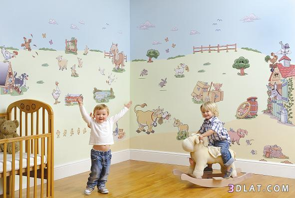 ورق حائط لغرف نوم الاطفال   نورى