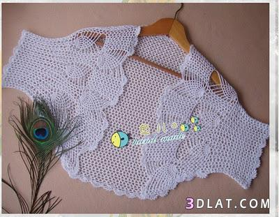 بوليرو كروشيه بالباترون للاطفال، بوليروهات للاولاد جديدة 13648557844