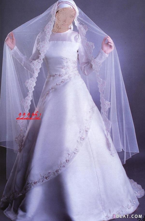 فساتين زواج محجبات,موديلات فساتين زفاف محجبات,اجمل فساتين عرائس محجبه