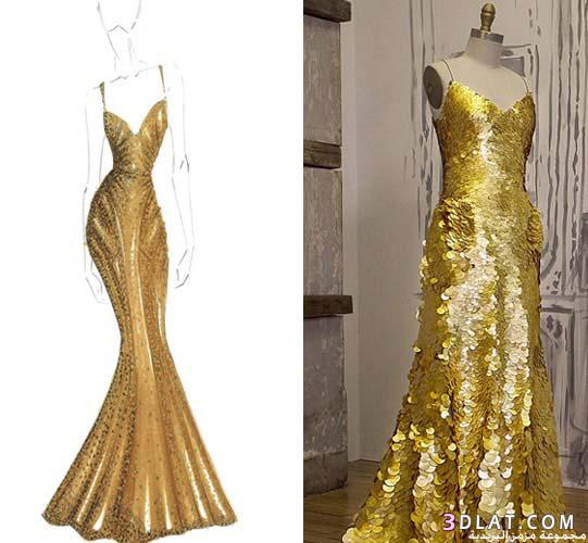 فستان مصنوع الذهب عيار بقيمة مليون 13663082213.jpg