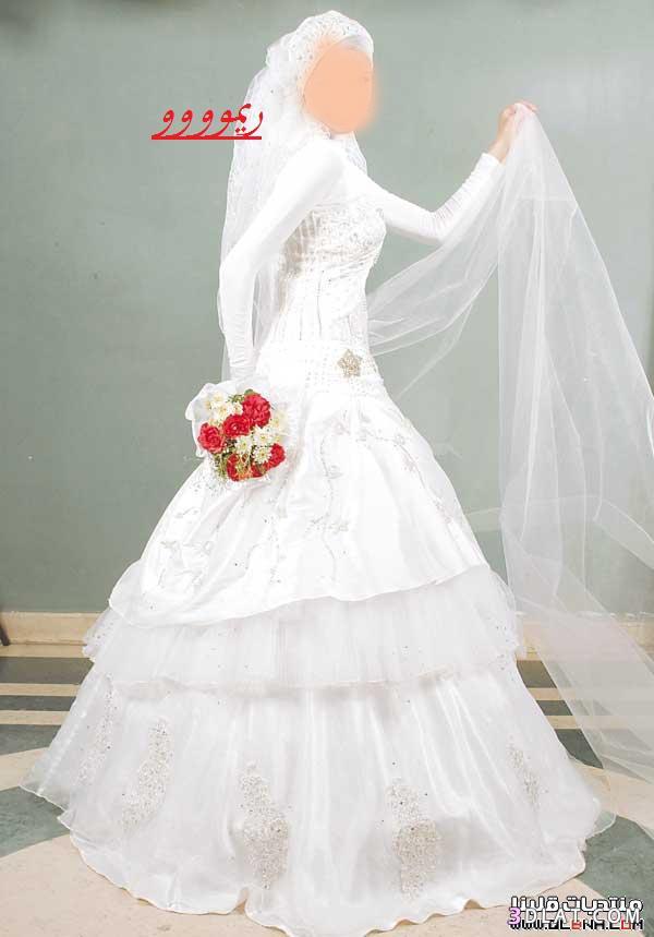 فساتين زواج محجبات,فساتين افراح للمحجبات 2021,اجمل فساتين الزفاف للمحجبات