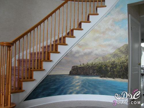 رسم ثلاثي الابعاد على الجدران Alaa Ilham