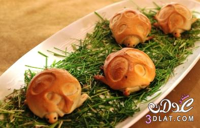 خبز السلحفاه للاطفال , طريقه تحضير خبز السلحفاه للاطفال كيفيه عمل الخبز 13682264071.jpg