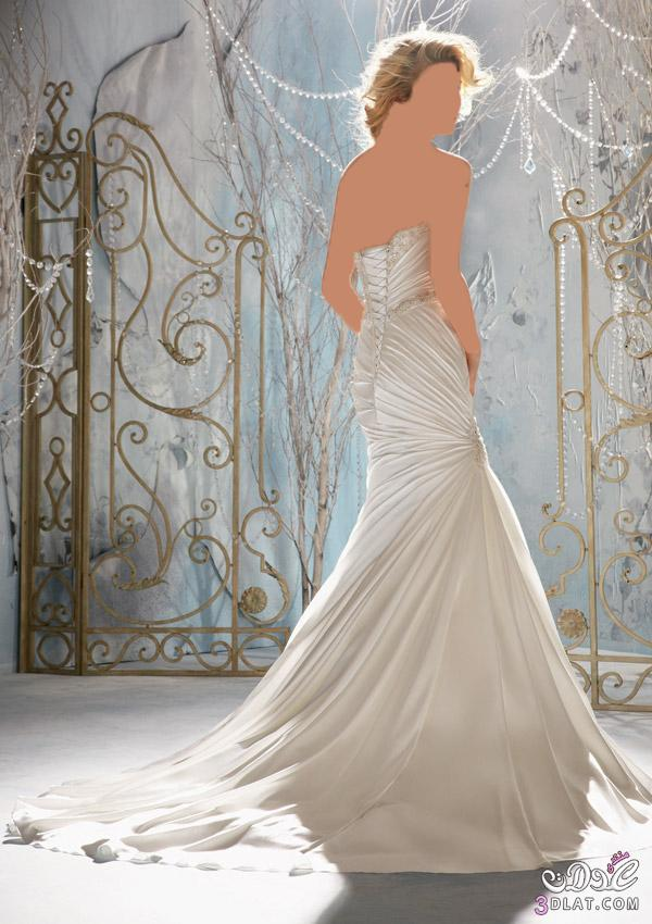 فستان زفاف يخليكي ملاك يوم فرحك