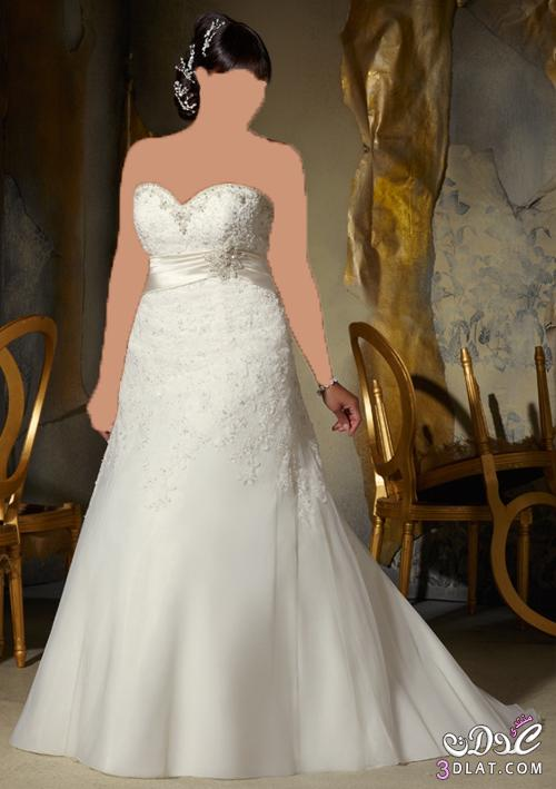 لو حتي وزنك زايد فستان زفافك رقيق