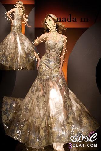فساتين خطوبة باللون الذهبى Engagement dresses with gold color فساتين خطوبة جنان