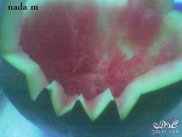 البطيخ, ايديا, بالخطوات, حياة, روعة, سلة, صور, طريقة, عمل, عنيا, من