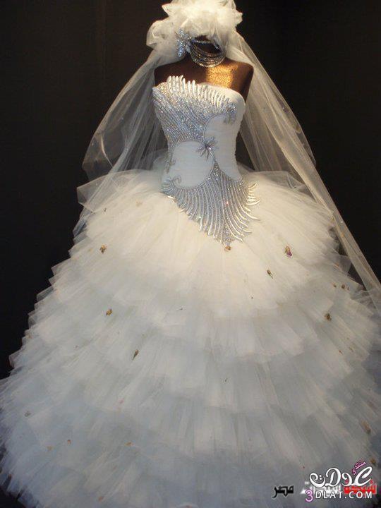 اجمل الفساتين للعروسة فساتين زفاف انيقة