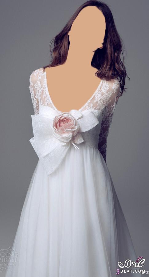 فستان فرح رقيق و رومانسي