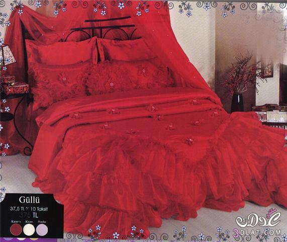 صور مفروشات غرف النوم 2018 مفارش السرير التركية للعروس 2018
