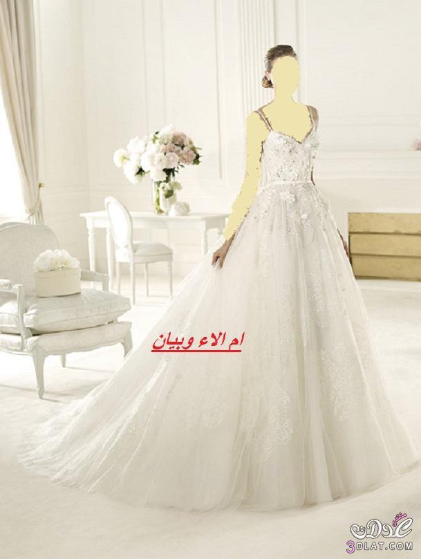 فساتين زفاف روعة,فساتين زفاف لعروس 2021,فساتين عروس 2021 من معرض عروس برشلونة ج1