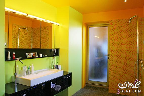 طرق لتزيين الحمامات الملونة 13764710507