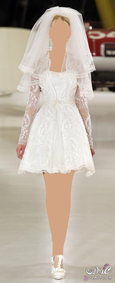 فستان فرح قصير للبنات الدلوعة