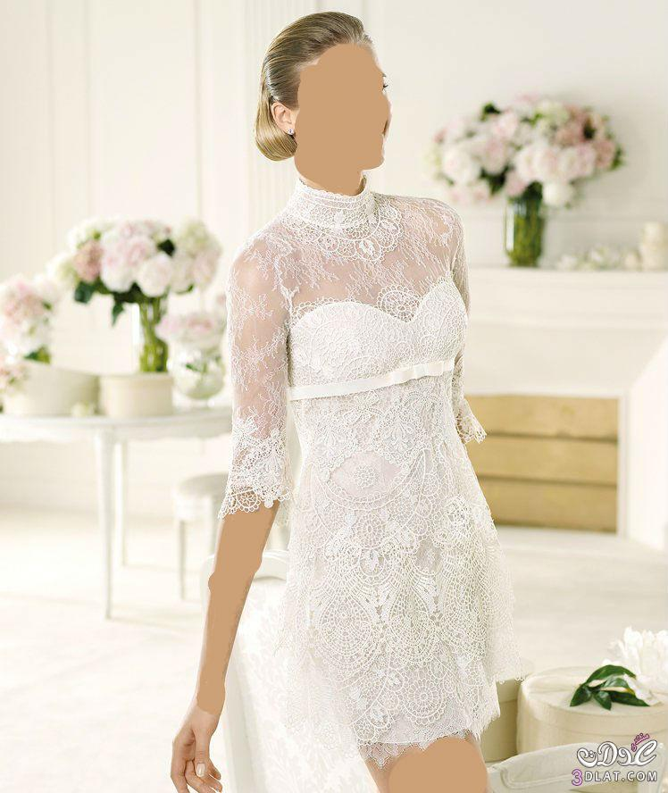 فساتين زفاف 2021 فساتين زفاف قصيرة مميزة 201