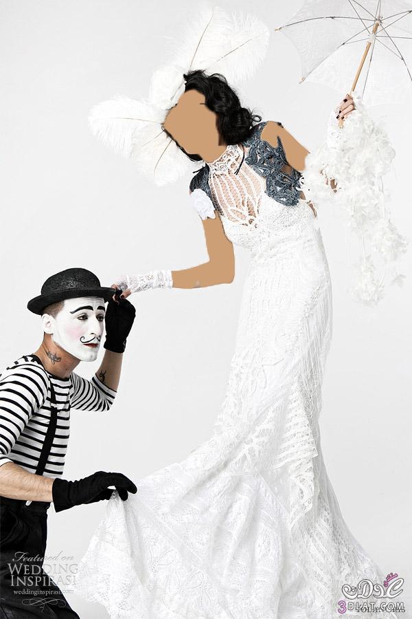 صور عرض غريب جدا لفساتين الزفاف للمصمم Yolan Cris