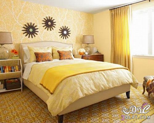 غرف نوم مميزه غرف نوم باللون الاصفر غرف نوم مميزه باللون الاصفر