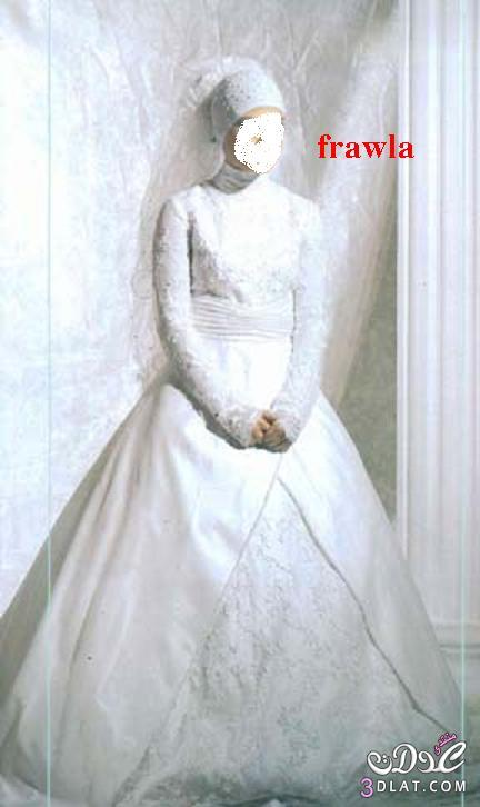 فساتين زفاف محجبات ,أرق وأجمل فساتين محجبات 2021