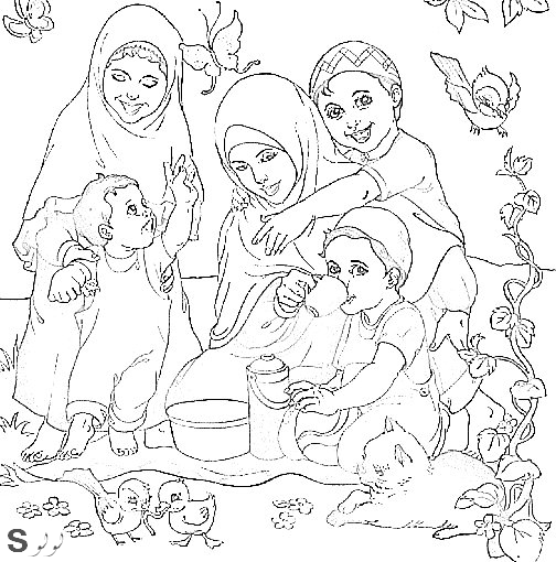 اطفال رسومات اسلامية للتلوين اسلامية لهواة التلوين