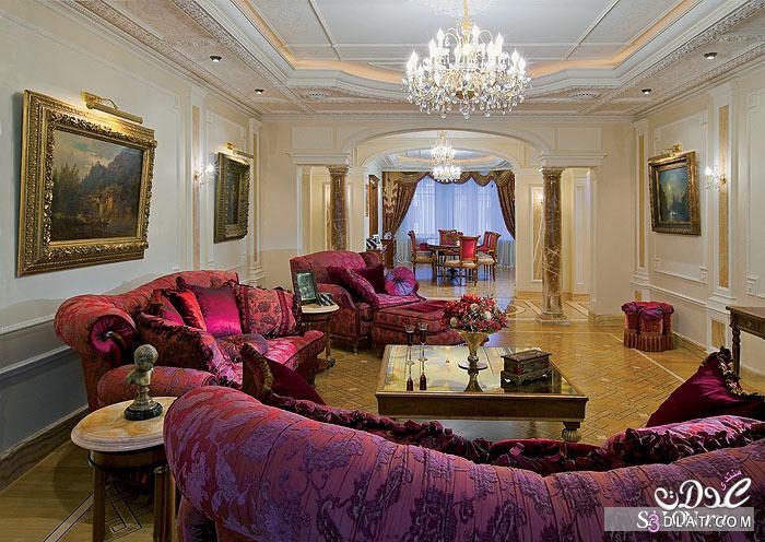 غرف استقبال راقية موديلات غرف الضيوف تتميز بالفخامة   روزة