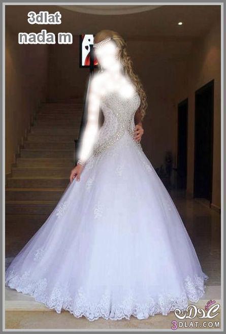 فساتين زفاف باحلى استايلات فساتين افراح اخر شياكة فساتين باللون الابيض لاحلى عرو