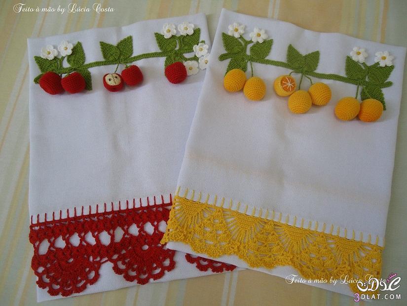 فنون الكروشية لخضروات وفاكهة وحواف