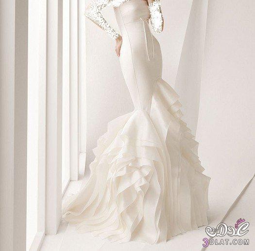 فستان زفاف بدون تطريز