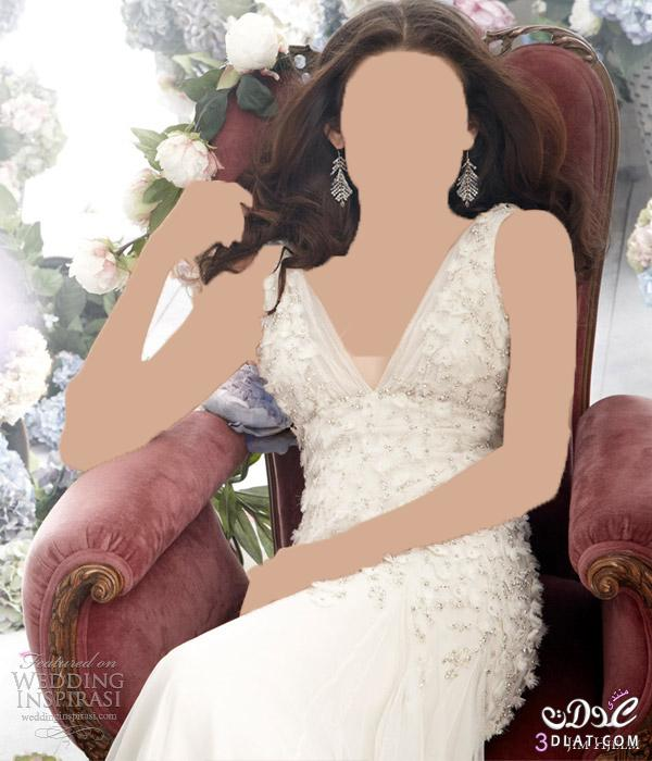 اجمل فستان لارق وردة فساتين زفاف تحفة لاجمل عروسة