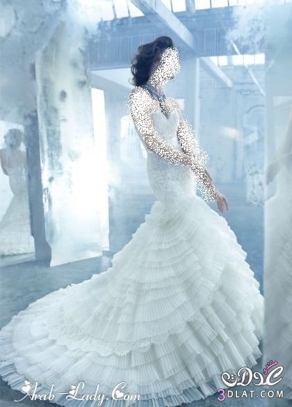 فساتين زفاف فخمة  فساتين زفاف خيالية اجمل فساتين زفاف 2021