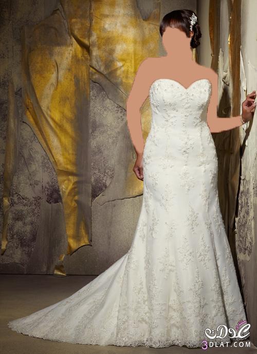 موديلات فساتين زفاف للبنات المليانة بجد