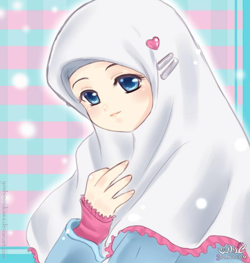 صور انمى بالحجاب انمى محجبة روعة محبه لله