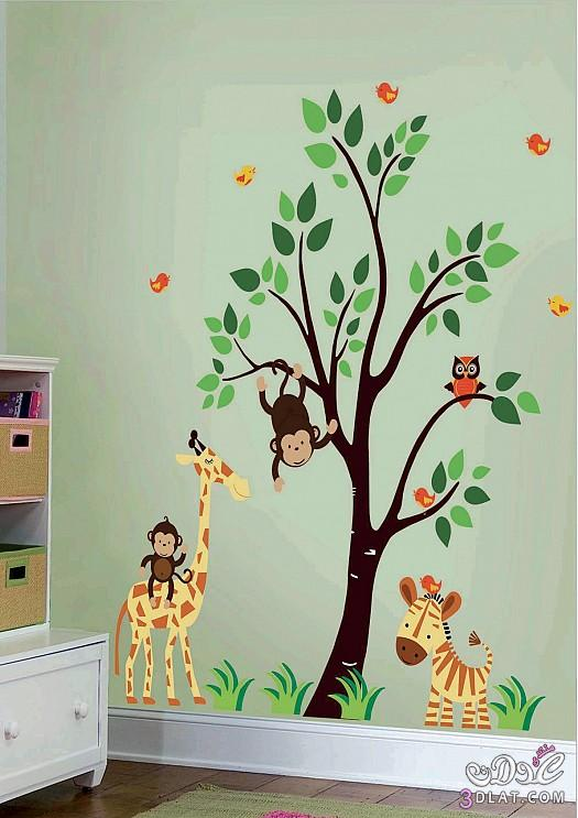استكرات ورق حائط لغرف الاطفال 2018   ام طاطو