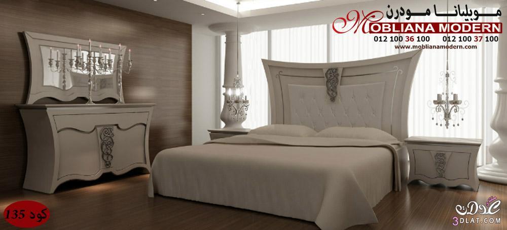 غرف نوم مودرن باللون الابيض