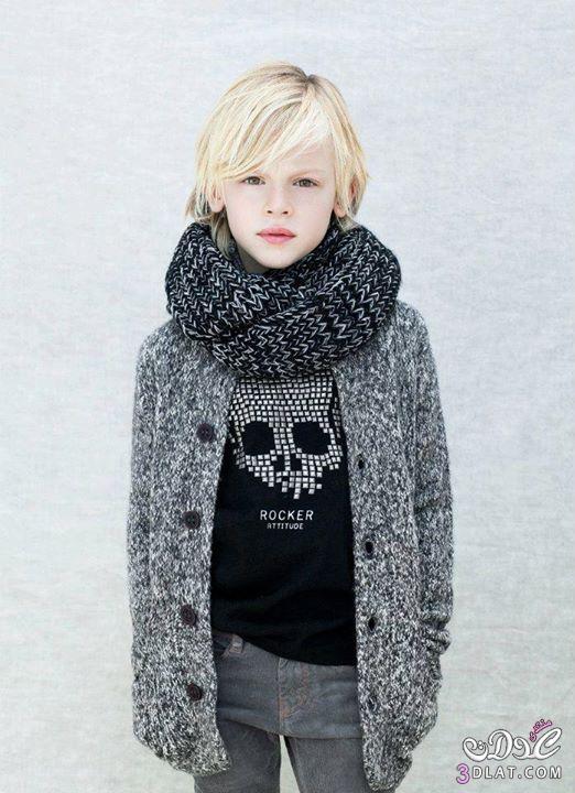 ملابس شتويه للاولاد 2014 ازياء