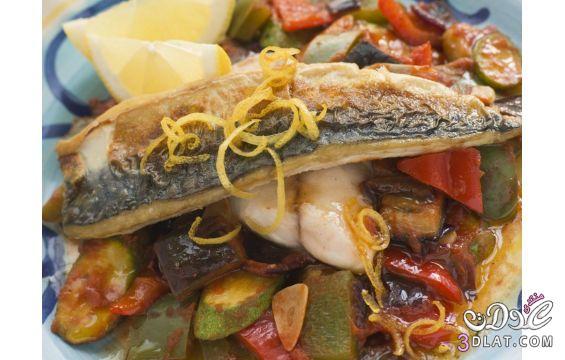 [بالصور] لحميتكِ:سمك الخضر نانسي حبيقة,طريقة