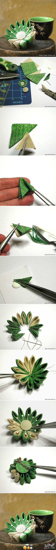 [صور] عمل وردة مجسمة من القماش بطريقة المثلثات 2014,طريقة صنع دبوس بروش بشكل وردة رائ 13877519362.jpg