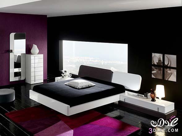 غرف نوم رومانسية حجرات نوم باللون الاسود لعشاق الاسود بغرف النوم