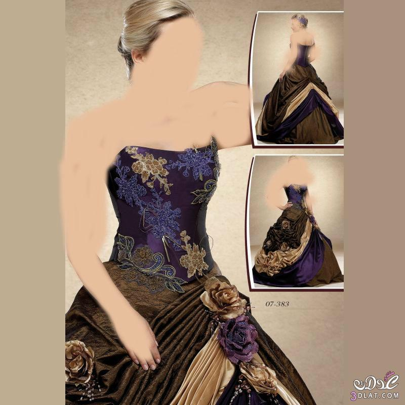 مجموعه من فساتين الخطوبه بألوان  براقه وتصميمات متميزه