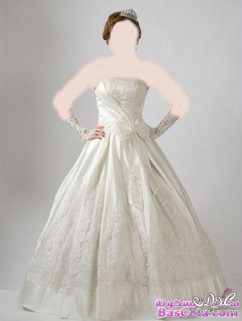 فساتين زفاف 2014 باللون الفضي