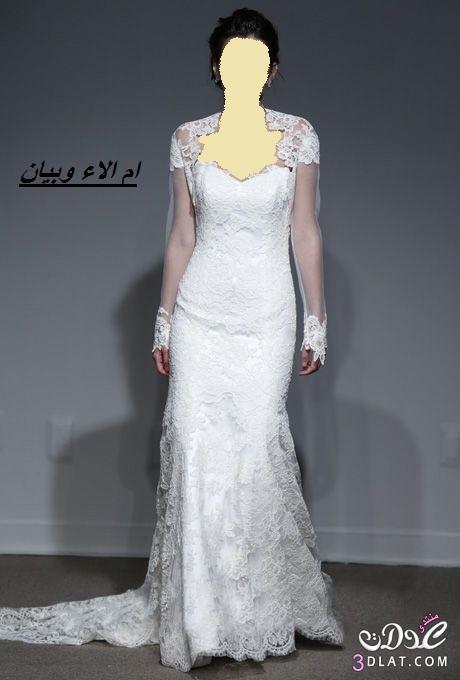 ba971638f فساتين زفاف بالاكمام ل2019,فساتين عروس 2020 مناسبة للعروس المحجبة ج1 ...