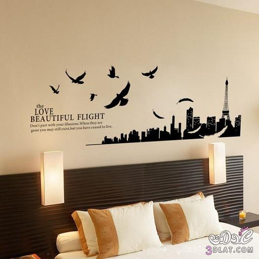 50 Beautiful Wall Painting Ideas And Designs For Living: ورق جدران غرف نوم 2019 رسومات جدران غرف نوم مودرن 2019